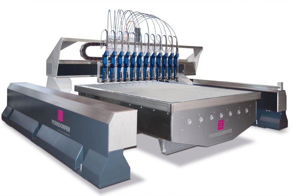 Wasserstrahlschneiden Maschinen WSS Reinwasser 12-Kopf_Perndorfer