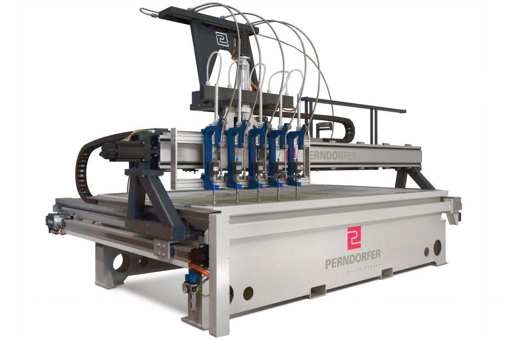 Wasserstrahlschneiden Maschinen WSS Reinwasser 5-Kopf_Perndorfer