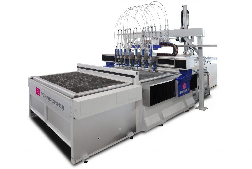 Wasserstrahlschneiden Maschinen WSS RW 8-Kopf_Perndorfer