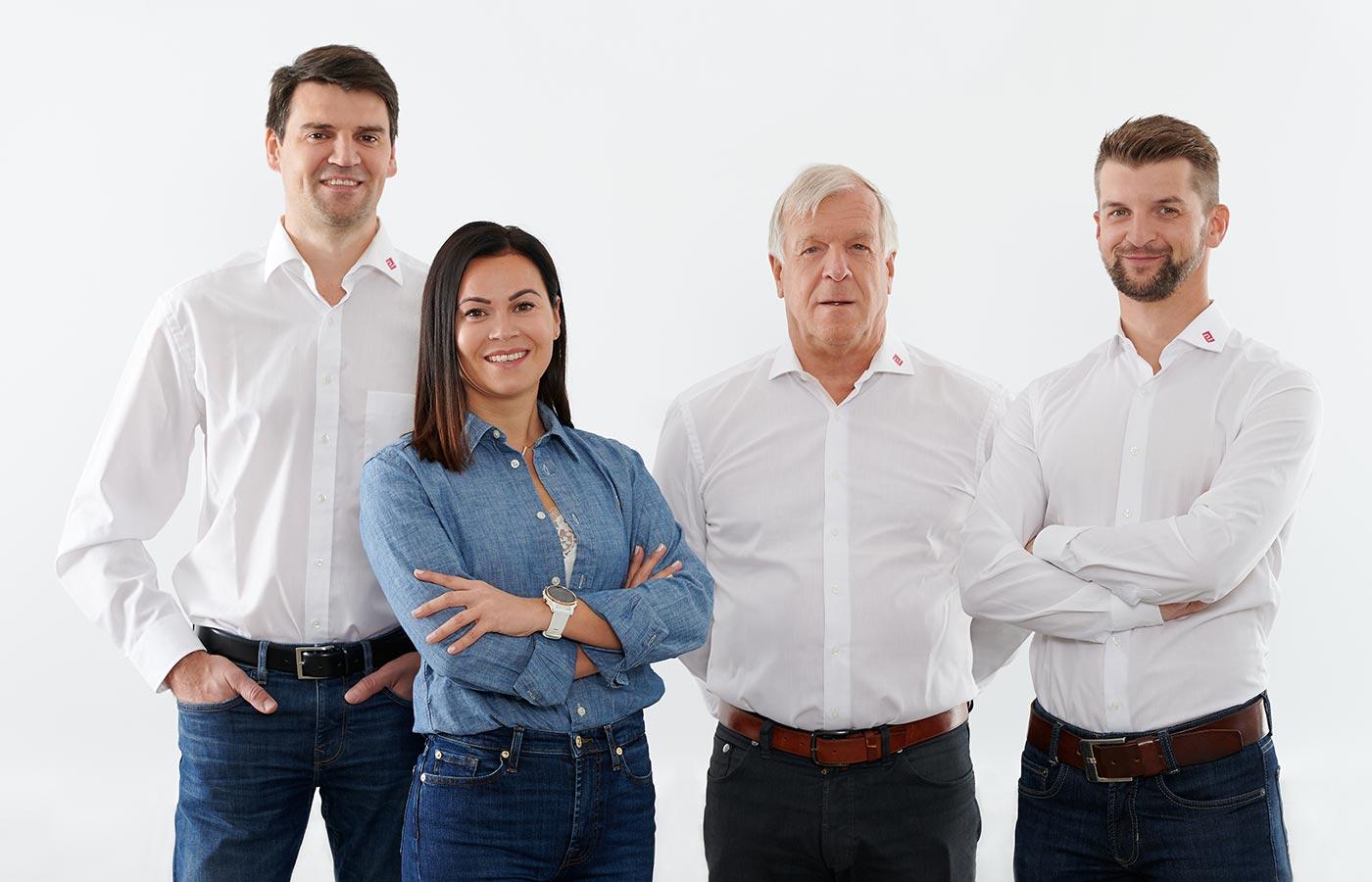 Die Geschäftsführung von Perndorfer Maschinenbau in Oberösterreich